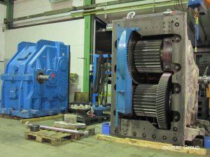 Instandsetzung von Flender Getrieben - hier DMGH Rohrmühlengetriebe aus der Zementindustrie