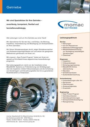 momac Getriebeinstandsetzung, herstellerübergreifende Getriebereparaturen, Reparaturen von Industriegetrieben alle Hersteller