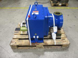 Instandsetzung eines Koellmann Gears PEES 265V Extrudergetriebes, hier defektes Koellmann Getriebe nach der Instandsetzung / Reparatur