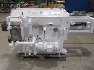 Instandsetzung eines PIV Getriebe 76P 3850 CW Extrudergetriebes aus einem Coperion Extruder, hier nach der Reparatur