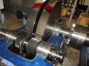 Revision BHS Voith AD50 Turbogetriebe, hier während der Instandsetzung
