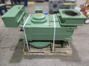 Reparatur eines Flender Getriebes H4 TV 10B, hier Getriebe vor dem Versand nach der Instandsetzung