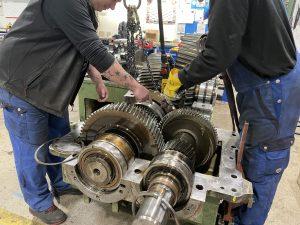 Repartur Instandsetzung TGW Getriebe Typ AA KDN 670- W2 defekte Verzahnung Getriebeinstandsetzung